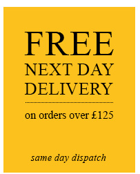 Free next day delivery on orders over £125