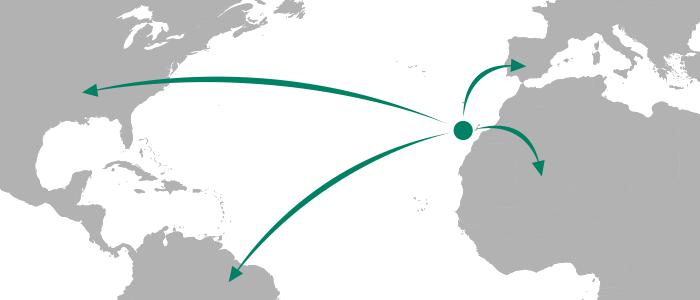 Tenerife location map