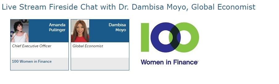 Dambisa Moyo and Amanda Pullinger 100 Women In Finance