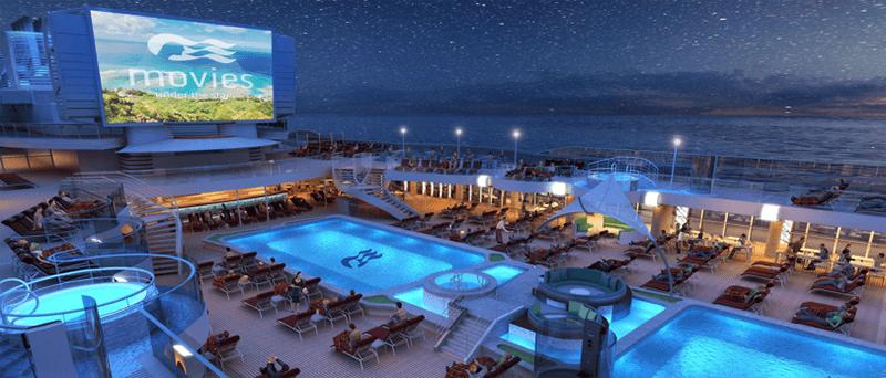 Open-air cinema onboard a Princess Cruises ship