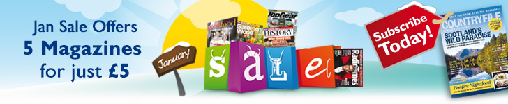 Get 5 Magazines For Just £5
