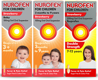 Nurofen For Children product range