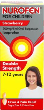 Nurofen For Children Ibuprofen Double Strength Strawberry flavour