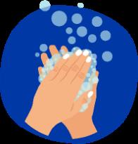 Washing hands graphic