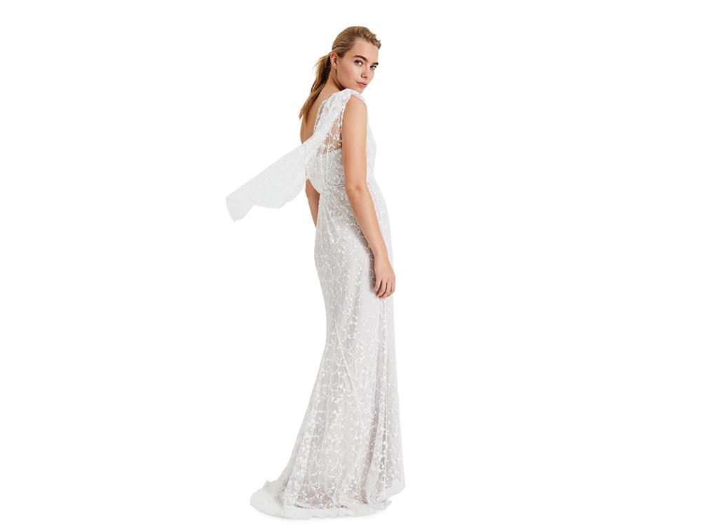 Anabel Lace One Shoulder Wedding Dress