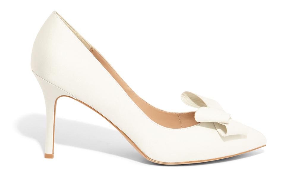 Kara Satin Pointed Court Shoes