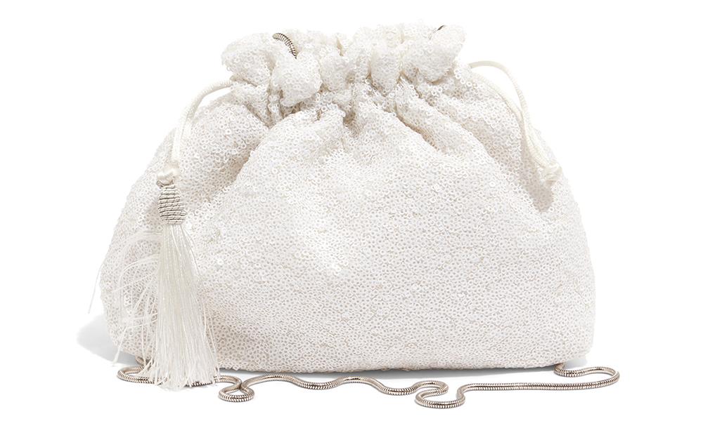 Georgina Sequin Drawstring Bag