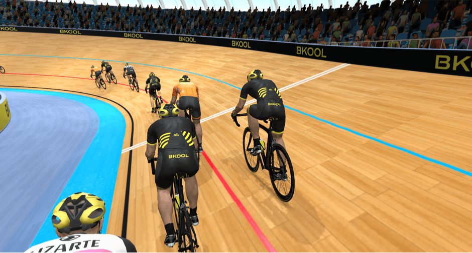 Virtual velodrome race