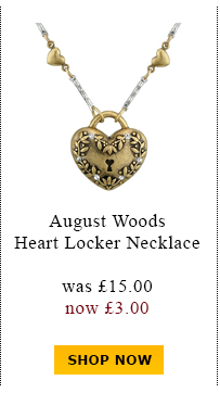 August Woods Heart Locker Necklace was £15.00 now £3.00