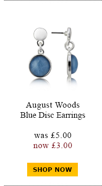 August Woods Blue Disc Earrings was £5.00 now £3.00