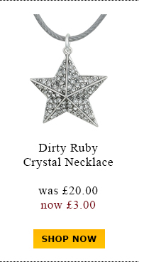 Dirty Ruby Crystal Necklace was £20.00 now £3.00