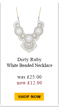 Dirty Ruby White Beaded Necklace was £25.00 now £12.00