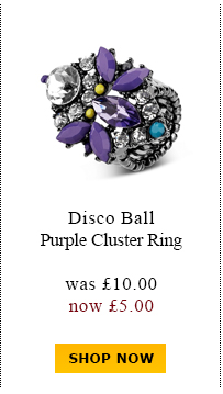 Disco Ball Purple Cluster Ring was £10.00 now £5.00