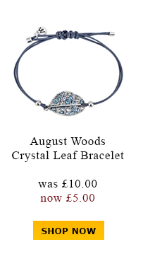 August Woods Crystal Leaf Bracelet was £10.00 now £5.00