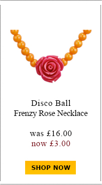 Disco Ball Frenzy Rose Necklace was £16.00 now £3.00