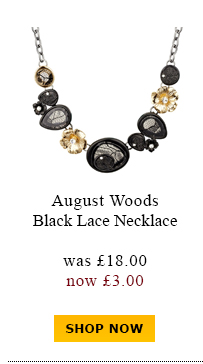 August Woods Black Lace Necklace was £18.00 now £3.00