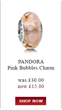 Pandora Pink Bubbles Charm was £30.00<br /> now £15.00