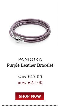Pandora Purple Leather Bracelet was<br /> £45.00 now £25.00