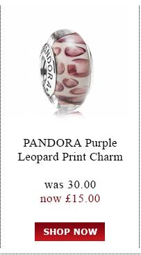 Pandora Purple Leopard Print Charm was<br /> £30.00 now £15.00