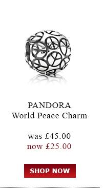 Pandora World Peace Charm was £45.00<br /> now £25.00