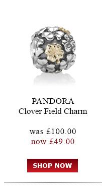 Pandora Clover Field Charm was £100.00<br /> now £49.00
