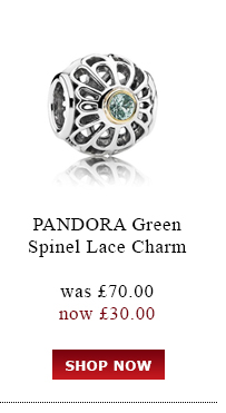 Pandora Green Spinal Lace Charm was<br /> £70.00 now £30.00