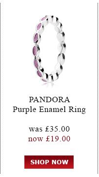 PANDORA. Purple Enamel Ring. Was £35.00<br /> now £19.00. Shop Now