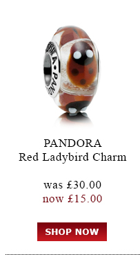 PANDORA. Red Ladybird Charm. was £30.00<br /> now £15.00. Shop Now