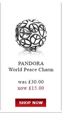PANDORA. World Peace Charm. was £30.00<br /> now £15.00. Shop Now