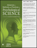 Advances in Methods and Practices in Psychological Science Cover