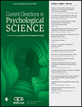 Current Directions in Psychological Science Cover