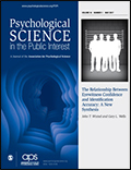 Psychological Science in the Public Interest Cover