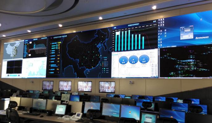 北京民航总局运行监控中心大屏案例