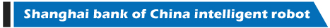 Shanghai bank of China intelligent robot